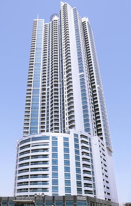 Corniche Tower Ajman - Annual Maintenance Contract - MEP - Cleaning Services | FAWAZ FM UAE